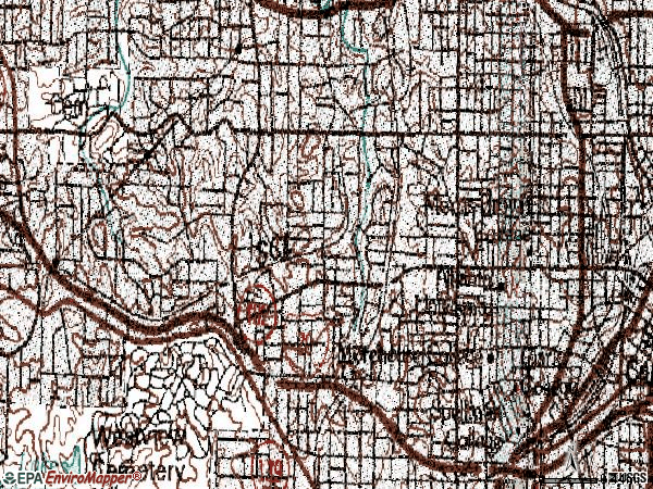 Zip code 30314 topographic map