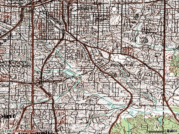 Zip code 30315 topographic map