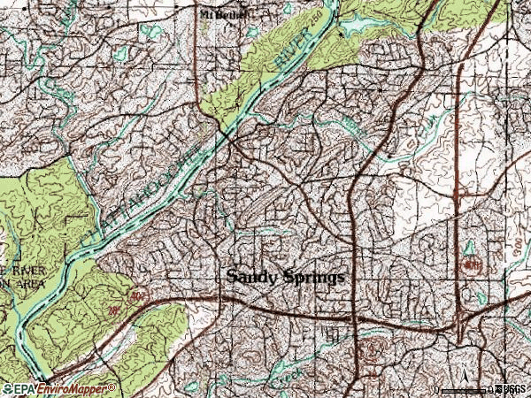 Zip code 30328 topographic map