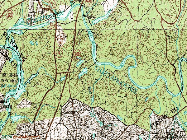 Zip code 30350 topographic map