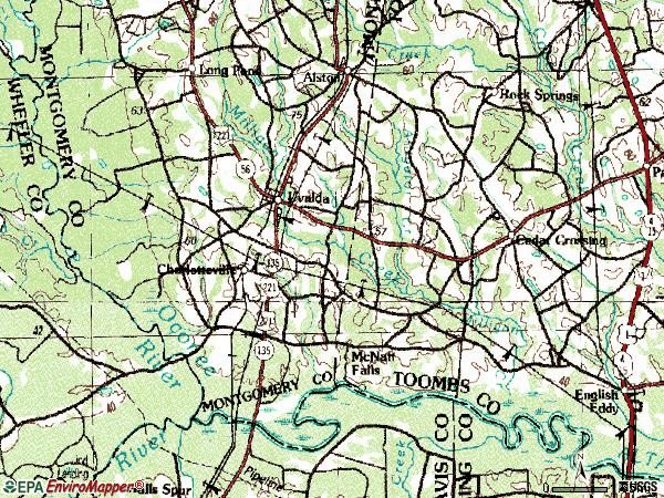 Zip code 30473 topographic map