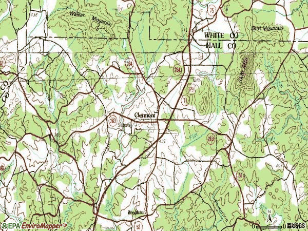 Zip code 30527 topographic map