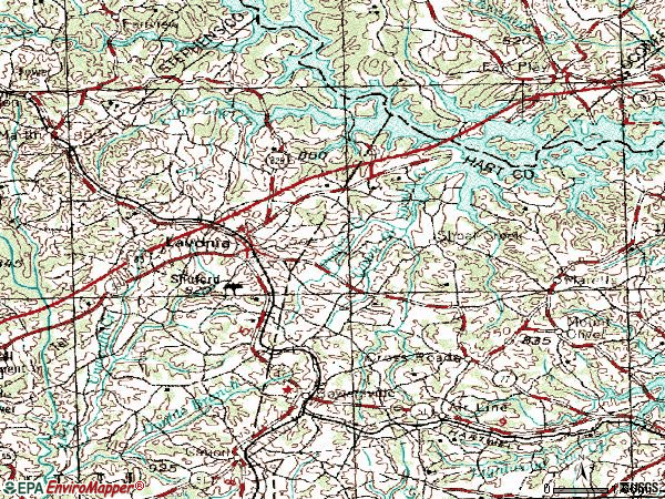 Zip code 30553 topographic map