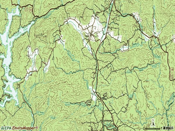 Zip code 30576 topographic map