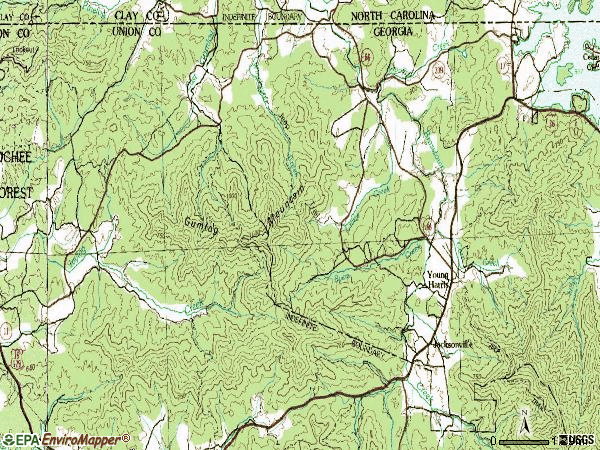 Zip code 30582 topographic map