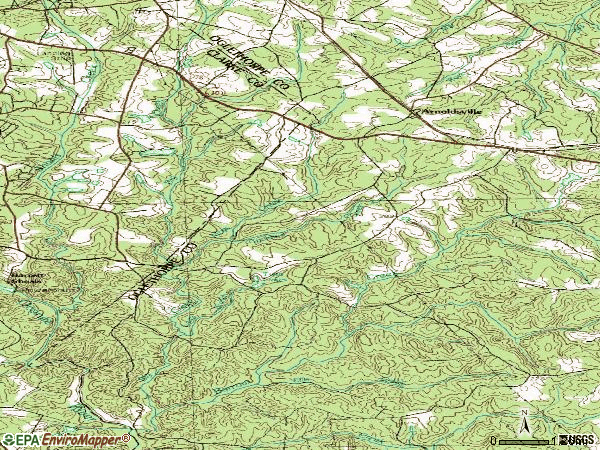 Zip code 30619 topographic map