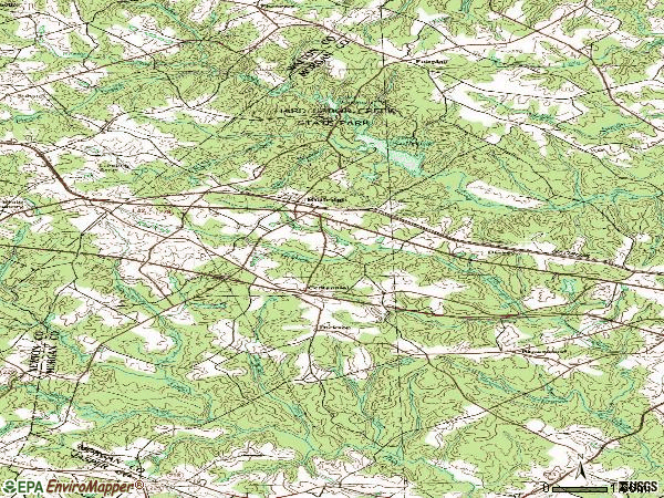 Zip code 30663 topographic map
