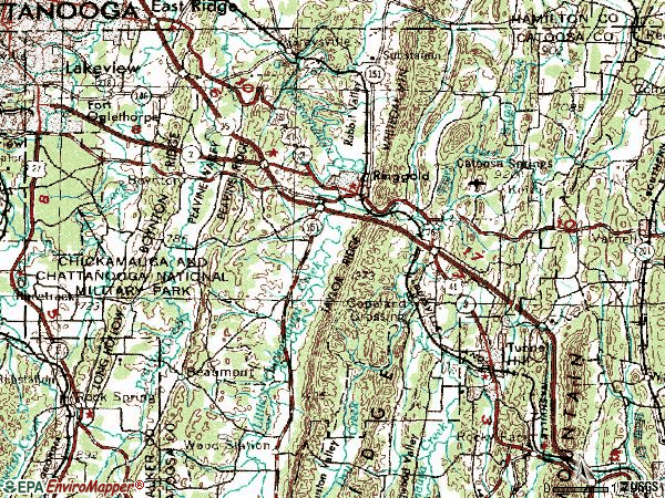 Zip code 30736 topographic map