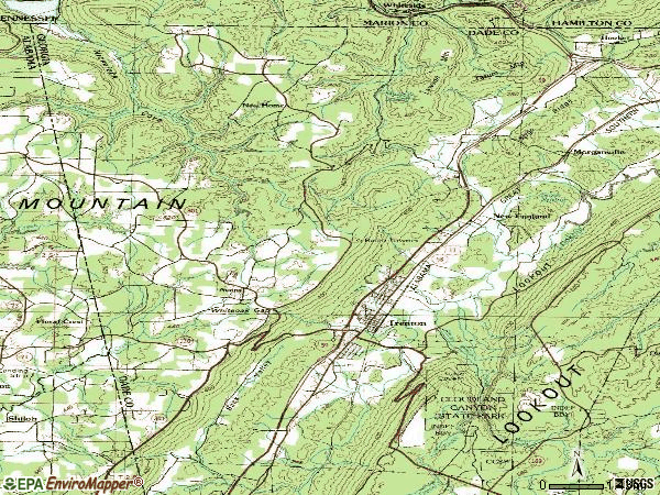 Zip code 30752 topographic map
