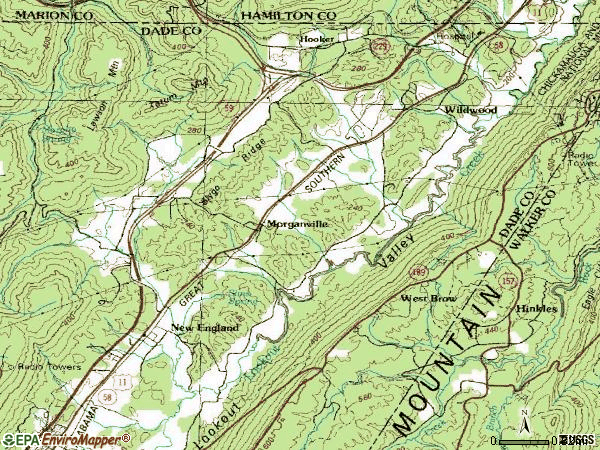 Zip code 30757 topographic map