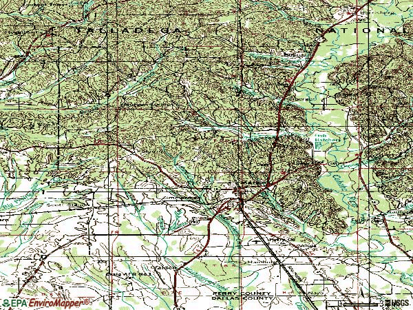 Zip code 36756 topographic map