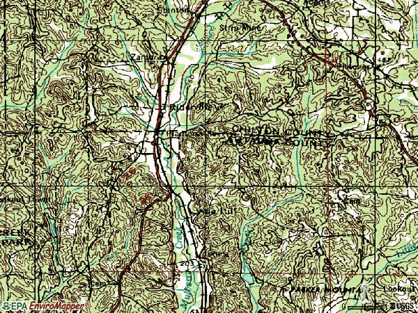 Zip code 36758 topographic map
