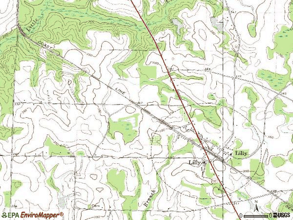 Zip code 31051 topographic map
