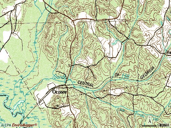 Zip code 31067 topographic map
