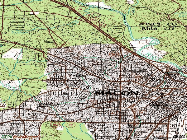 Zip code 31204 topographic map