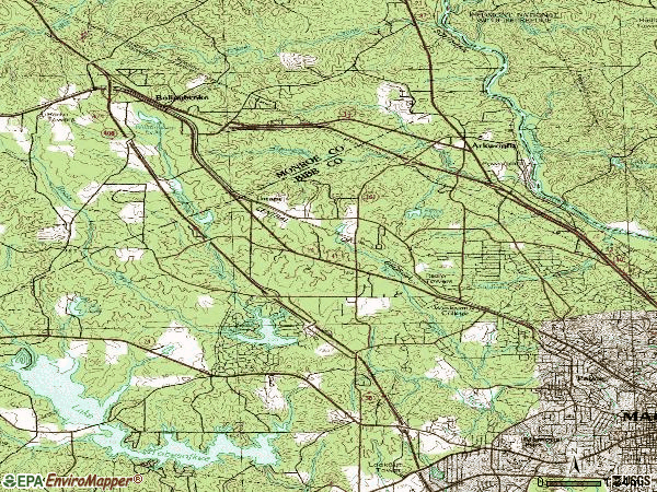 Zip code 31210 topographic map
