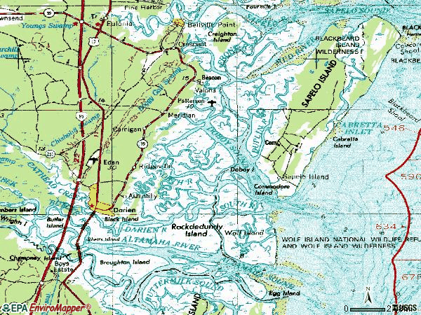 Zip code 31305 topographic map