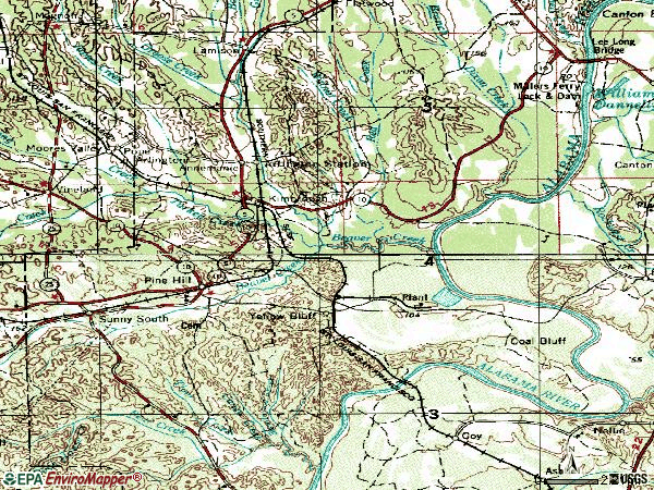 Zip code 36769 topographic map