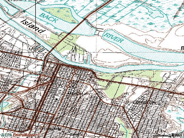 Zip code 31401 topographic map