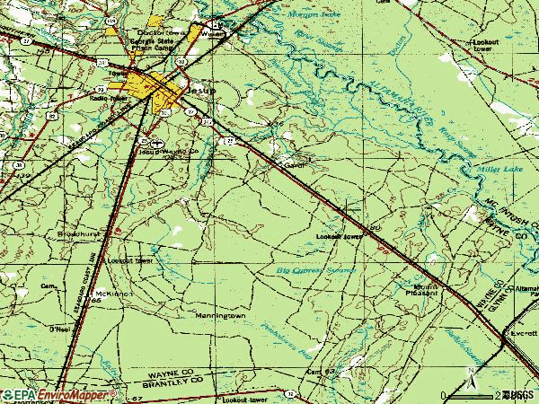 Zip code 31546 topographic map