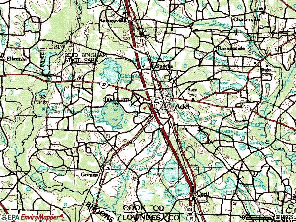 Zip code 31620 topographic map