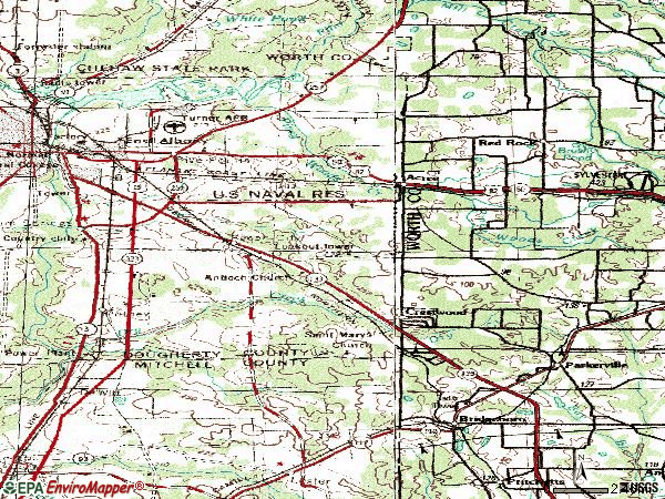 Zip code 31705 topographic map