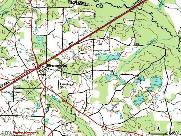 Zip code 31726 topographic map