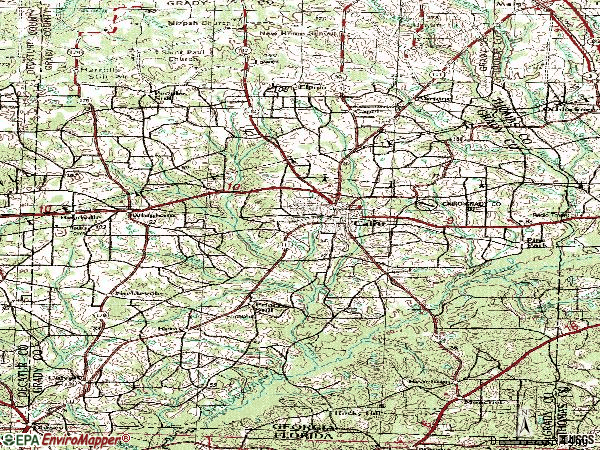 Zip code 31728 topographic map