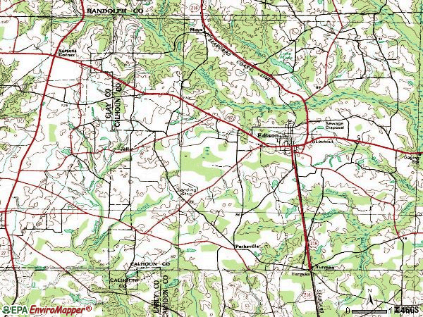 Zip code 31746 topographic map