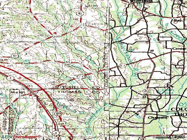 Zip code 31765 topographic map