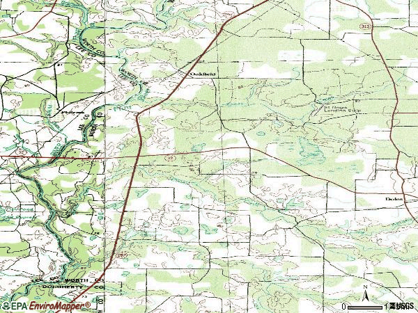 Zip code 31772 topographic map