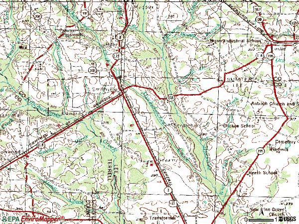 Zip code 31787 topographic map