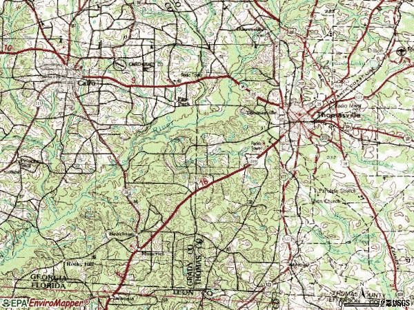 Zip code 31792 topographic map