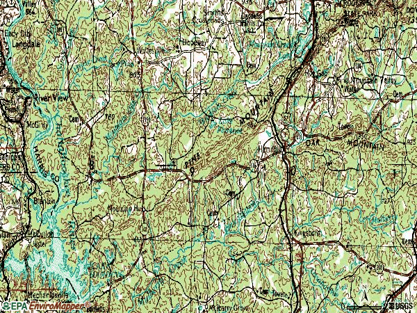Zip code 31811 topographic map