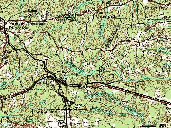 Zip code 31812 topographic map
