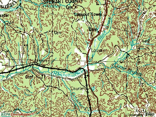 Zip code 31814 topographic map