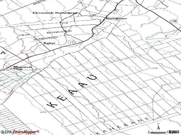 Zip code 96760 topographic map