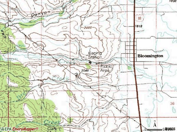 Zip code 83223 topographic map