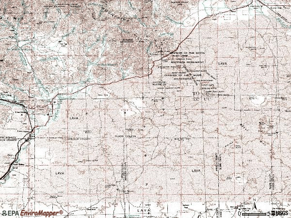 Zip code 83320 topographic map