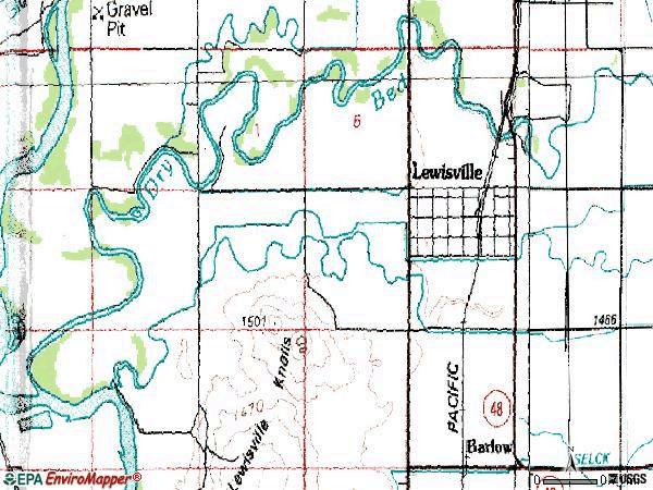Zip code 83431 topographic map