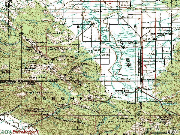 Zip code 83455 topographic map
