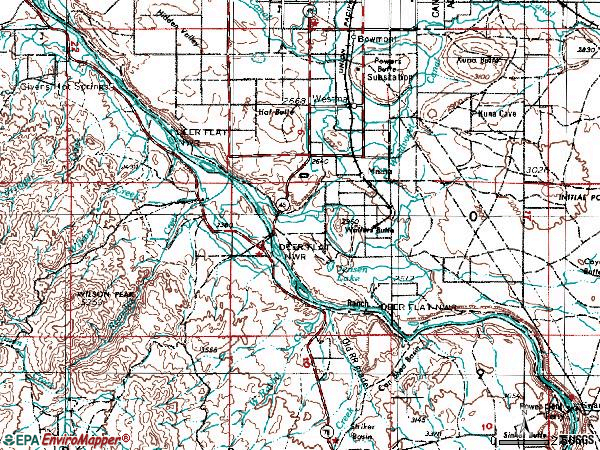 Zip code 83641 topographic map