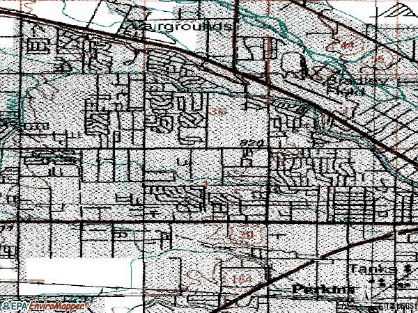 Zip code 83704 topographic map