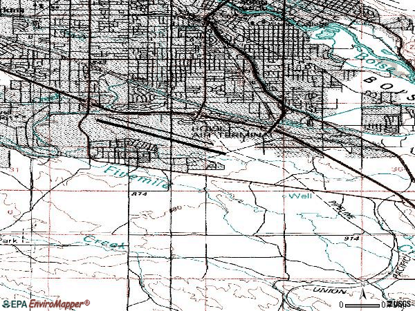 Zip code 83705 topographic map