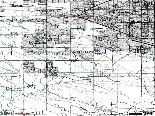 Zip code 83709 topographic map