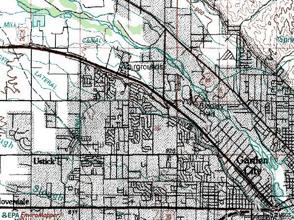 Zip code 83714 topographic map
