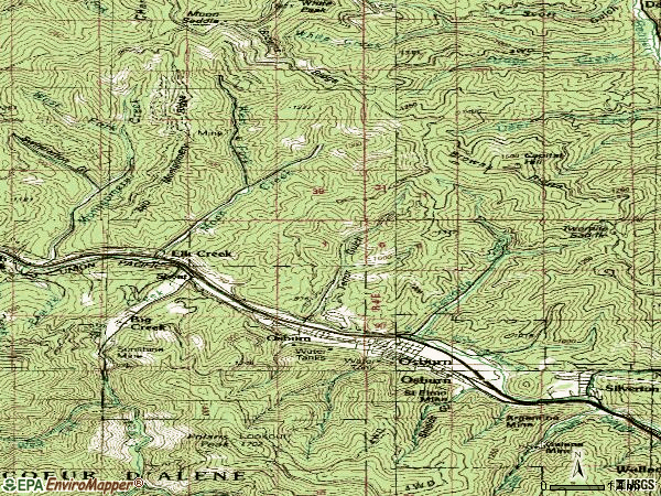 Zip code 83849 topographic map