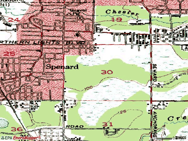Zip code 99503 topographic map