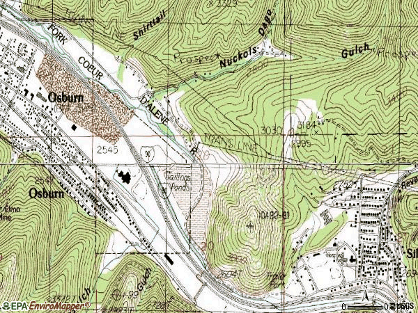 Zip code 83867 topographic map