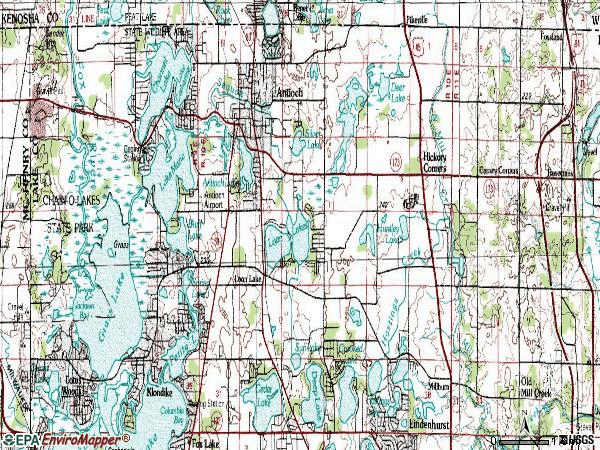 Zip code 60002 topographic map